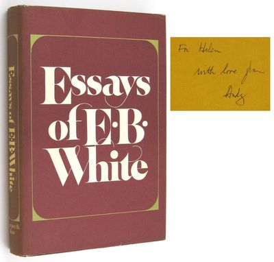 Abaa essays of e b white by white e b search for rare books