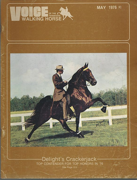 Image for VOICE OF THE TENNESSEE WALKING HORSE MAGAZINE MAY 1976