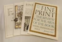 image of Fine Print: The Review for the Arts of the Book - Complete for 1985 (Vol. 11, Nos. 1-4)