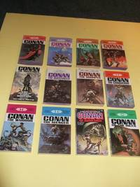 TWELVE VOLUMES:  Conan; of Cimmeria; the Freebooter; The Wanderer; The Adventurer; The Buccaneer; The Warrior; The Usurper; The Conqueror; The Avenger; Of Aquilonia; of The Isles -book 1, 2, 3, 4, 5, 6, 7, 8, 9, 10, 11