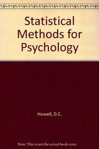 image of Statistical Methods for Psychology