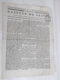 GAZETTE de France. Octidi 18 pluviose, an IX de la République.