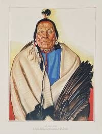 Big Face Chief: A stalwart member of the north Pecunnie band of Blackfeet. His necklace as eagle wing fan mark him as a Medicine Man