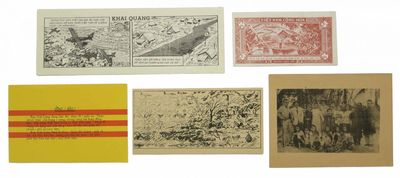(n. p.), (n. d.). Ca 1965-1970. One printed in color to verso (flag of South Vietnam); three 5 Dong ...