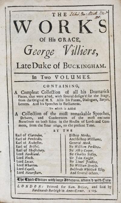London: Printed for Sam. Briscoe, and fold by Fardinando Burleigh in Amen-Corner, 1715. Hardcover. f...