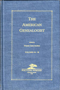 The American Genealogist Volumes 36-38