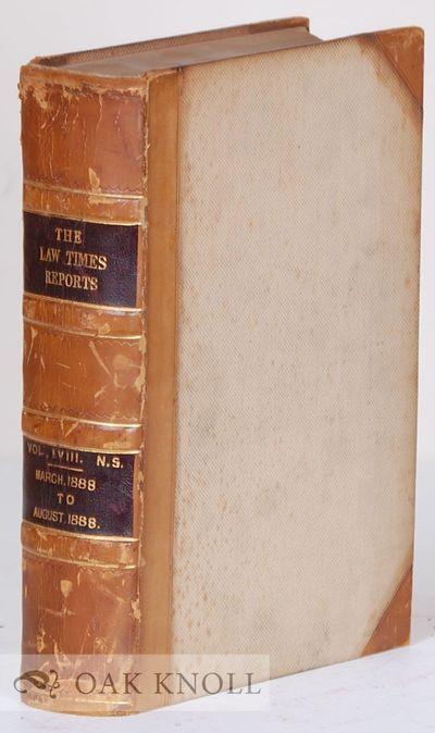 London, England: Horace Cox, 1888. half leather, cloth. Law. small 4to. half leather, cloth. cii, 95...