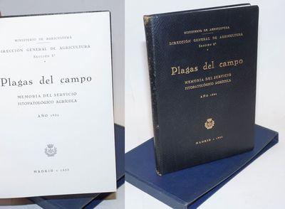 Madrid: Dirección General de Agricultura, 1933. xii, 250p., government presswork on alkaline glazed...