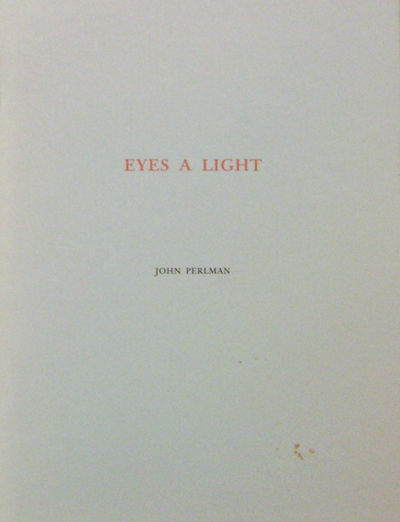 Mamaroneck: Room Press, 1988. First edition. Paperback. Very Good. 4to. A 33 pp volume of poems in s...