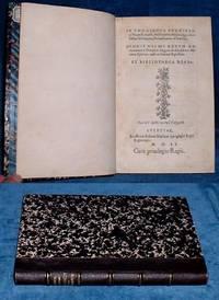 DIONIS NICAEI RERUM ROMANARUM A POMPEIO MAGNO AD ALEXANDRUM MAMAEAE EPITOME Authore Ioanne Xiphilino. [and same in Greek above this Latin title]. EX BIBLIOTHECA REGIA