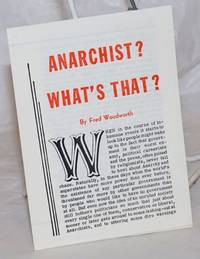 Anarchist? What's that