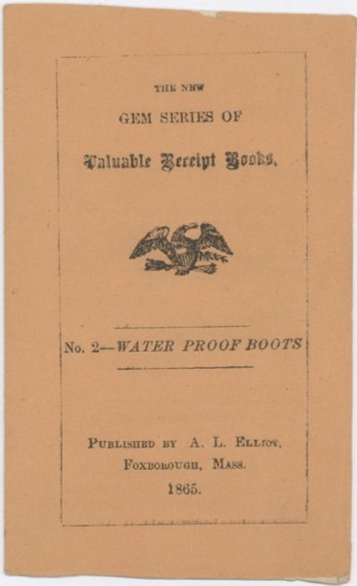 : Published by A.L. Elliot, 1865. Booklet, (13 x 7.5 cm.), 8 pages. FIRST & ONLY EDITION. The second...