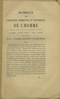 Toulouse: Musée d'histoire naturelle, 1875. Offprint. Paper wrappers. A very good unopened (uncut) ...