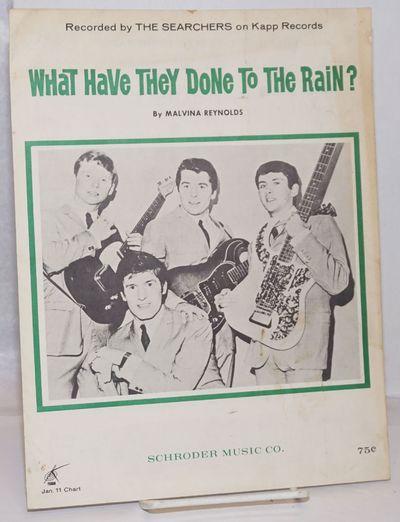 Berkeley, CA: Schroder Music Co, 1964. Sheet_music. Four page sheet music, with lyrics and music, 8....