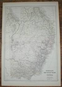 1884 Blackie's Map of Australia - Queensland, New South Wales and Victoria