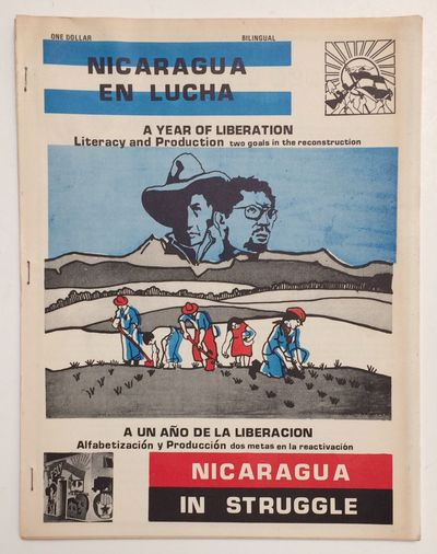 San Francisco, CA: Casa Nicaragua, 1980. 24p., staplebound wraps, 8.5x11 inches, back-to-back Englis...