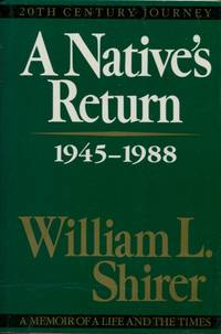 image of A Native's Return, Volume III, 20th Century Journey, A Memoir of a Life and the Times