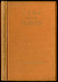 1100 Obscure Points: The Bibliographies of 25 English and 21 American Authors