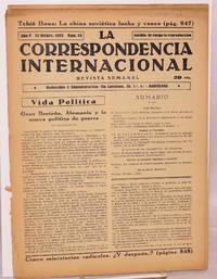 La correspondencia internacional; revista semanal, año V, num. 53, 15 Dicbre. 1933