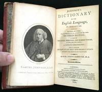 JOHNSON'S DICTIONARY OF THE ENGLISH LANGUAGE, IN MINIATURE; To which are added, an Alphabetical Account of the Heathen Deities; a List of the Cities, Boroughs and Market Towns, in England and Wales; a Copious Chronology; and a concise Epitome of the Most Remarkable Events during the French Revolution by  Dr. Samuel [Miniature: Dictionary] Johnson - First Miniature Edition - 1800 - from Borg Antiquarian (SKU: 92)