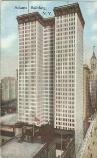 Adams Building, New York early 1900s unused Postcard