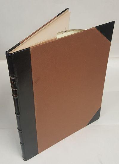 Paris: Ernest Leroux, Editeur, 1903. Text in French Quarto; VG/no-DJ; Black spine with gilded text; ...