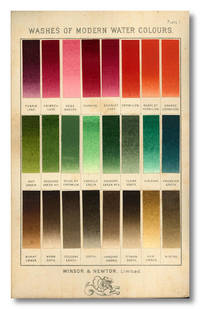 A DESCRIPTIVE HANDBOOK OF MODERN WATER-COLOUR PIGMENTS ILLUSTRATED WITH SEVENTY-TWO [sic] COLOUR WASHES SKILLFULLY GRADATED BY HAND ON WHATMAN'S DRAWING PAPER ... WITH AN INTRODUCTORY ESSAY ON THE RECENT WATER-COLOUR CONTROVERSY