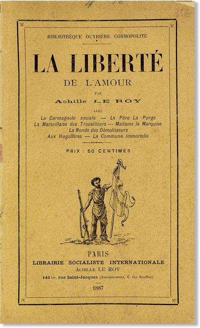 Paris: Librairie Socialiste Internationale / Achille Le Roy, 1887. First Edition. Paperback. Quite u...