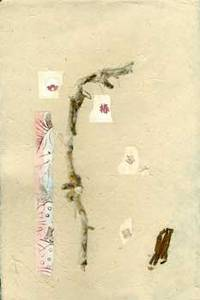 Handmade Paper and Collage with Reed Stalks