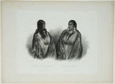 Paris, Coblenz and London, 1842. Aquatint engraving by Hürlimann after Bodmer, blind stamp. A fine ...