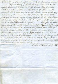 image of Slave Bill of Sale:  Tyrrel County, North Carolina.  Dated 5th June 1856