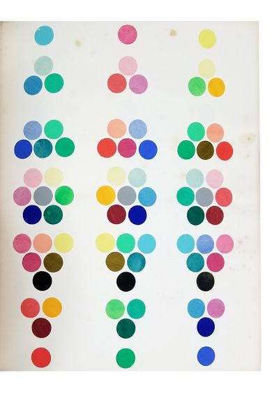 1868. BENSON, William. Principles of the Science of Colour concisely stated to aid and promote their...