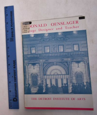 Detroit: Detroit Institute of Arts, 1956. Softcover. VG-. Ex-library with usual marks. Cover wear, i...