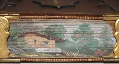 Full Morocco. Very Good. A highly unusual set of fore-edges. N.d., late nineteenth century. The fore...