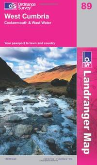 image of West Cumbria, Cockermouth and Wast Water (OS Landranger Map Series)