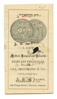 image of List of Medical, Surgical and Scientific Books and Periodicals Published by Lea Brothers & Co., Philadelphia and for sale by Vannevar & Co., Toronto