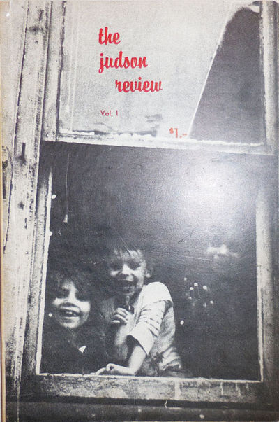 New York: Judson Review, 1963. First edition. Paperback. Very Good. Trade paperbound volume. 75 pp. ...