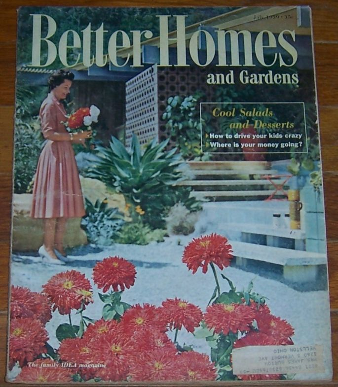 BETTER HOMES AND GARDENS MAGAZINE JULY 1959, Better Homes and Gardens