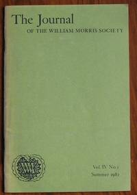 The Journal of the William Morris Society Volume IV Number 3 Summer 1981