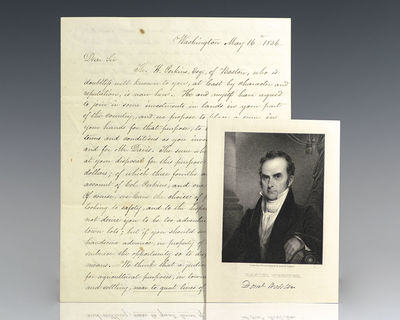 1836. Rare autograph letter signed by one of the most prominent American lawyers of the 19th century...