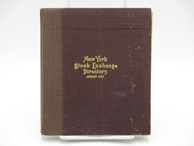 New York. : New York Stock Exchange. , 1933. Brown cloth, gilt cover title, no spine title. . Good p...