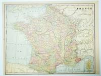 1889 Color Map of France
