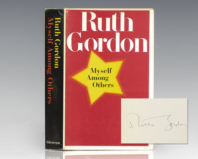 New York: Antheneum, 1971. First edition of the great actress and playwright's autobiography. Octavo...