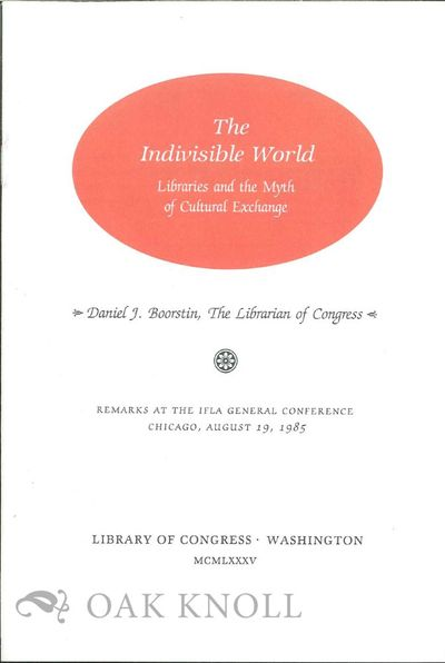 Washington, DC: Library of Congress, 1985. self paper wrappers. 12mo. self paper wrappers. 14, (2) p...