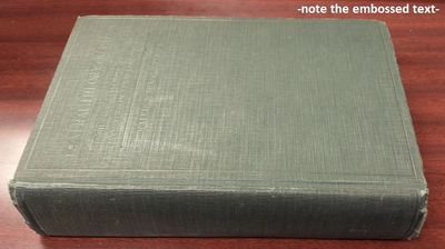 New York: Longmans, Green and Company, 1926. First Edition. 8vo., xvii, 702pp.; VG-; spine green clo...