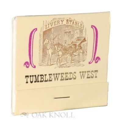 (San Diego: Ash Ranch Press, 1989. stiff paper wrappers in matchbook form. Miniature Books. oblong m...