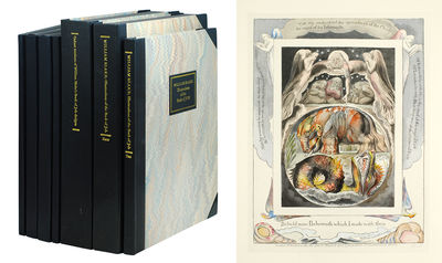 3 huge black slipcases. Paris: Trianon Press for the Blake Trust, 1987. 3 huge black slipcases, with...
