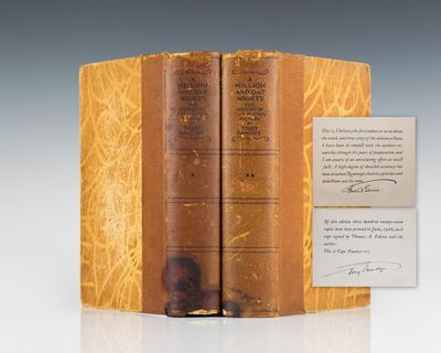 New York: Simon and Schuster, 1927. Signed Limited edition, one of 327 copies. Quarto, original half...