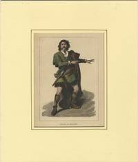 Role portrait as Macbeth. Hand-coloured engraving by Moritz Klinkicht after V.W. Bromley