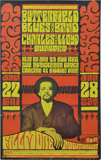 Butterfield Blues Band and the Charles Lloyd Quartet at Fillmore Auditorium (Original 1967 concert poster)